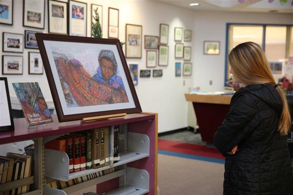Atlantic City High School students learn about local woman artist