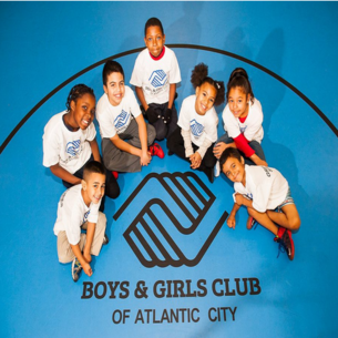 children with boys and girls club of atlantic city logo