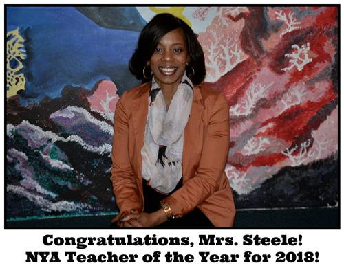 Mrs. Steele, Teacher of the Year