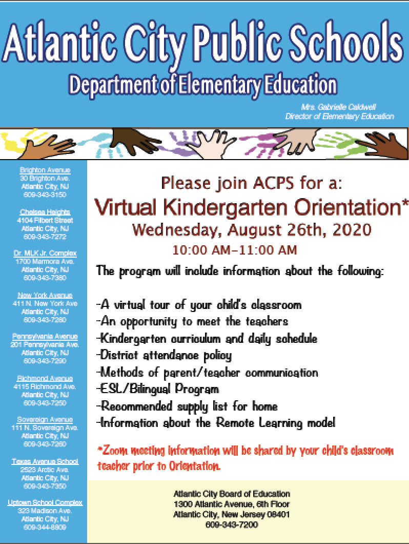 Virtual Kindergarten Orientation