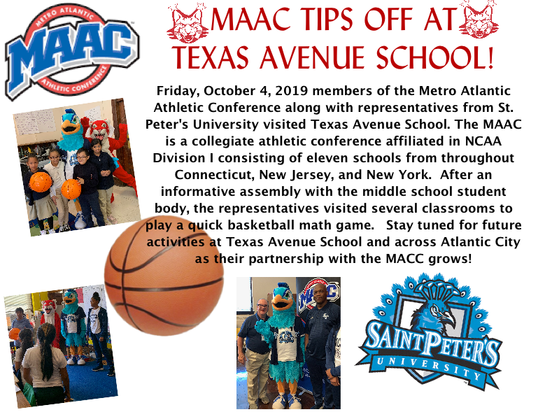 MACC TIPS OFF AT TEXAS AVENUE SCHOOL