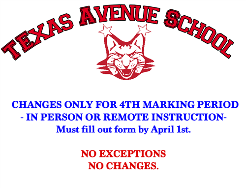 4th Marking Period Information!