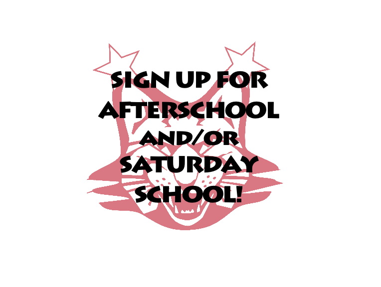 SIGN UP FOR SATURDAY SCHOOL!