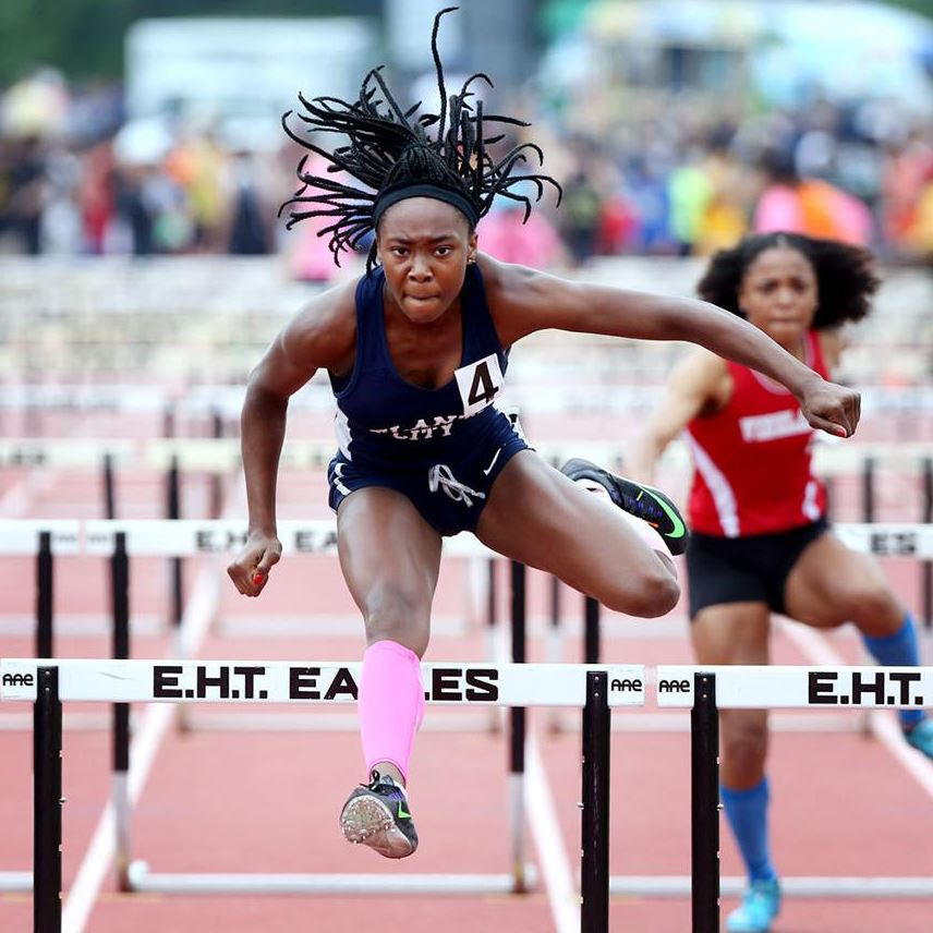Atlantic City senior Claudine Smith became a three-time winner in the Group 4 hurdles.