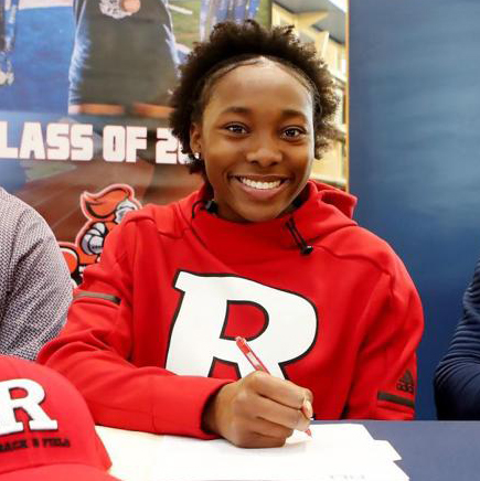 Senior Claudine Smith to continue her track and field career next fall at Rutgers University.
