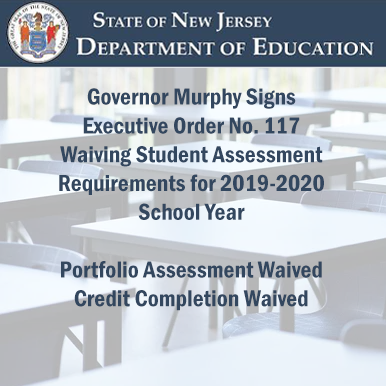 Governor Murphy Signs Executive Order Waiving Student Assessment Requirements